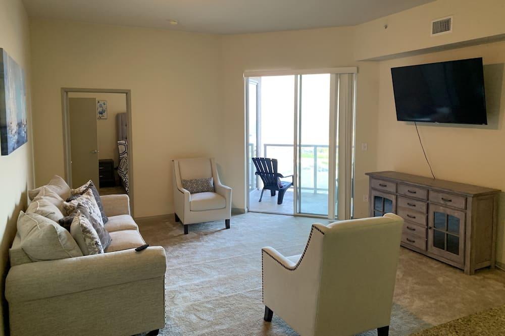 Apartamento de lujo, 2 habitaciones, vistas a la playa - Sala de estar