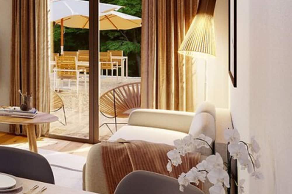 Apartmán typu Superior, bezbariérová izba, terasa - Obývacie priestory