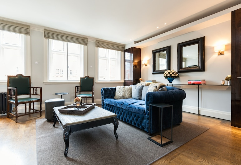 Stylish Mayfair Penthouse next to Hyde Park, London, Apartment, 2 Schlafzimmer, Wohnzimmer