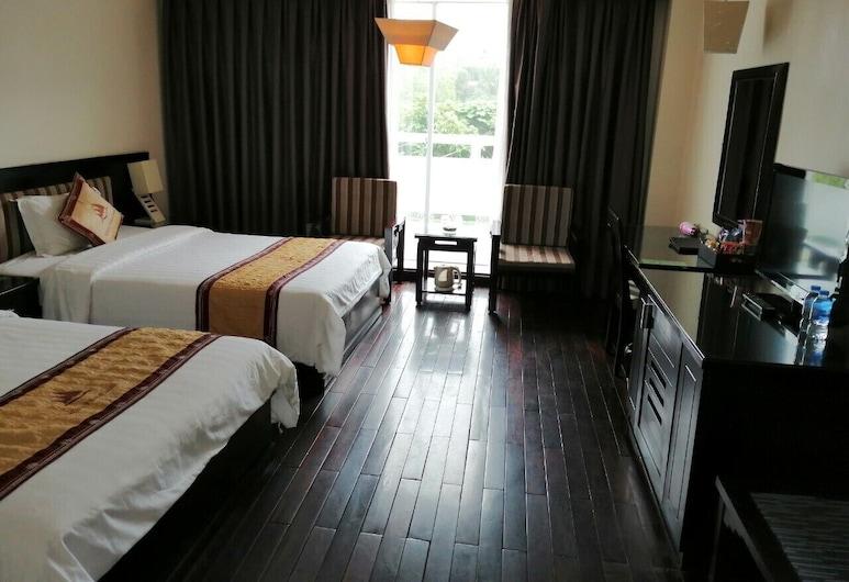 ホワイト パレス タイ ビン ホテル 1, タイビン, デラックス ツインルーム クイーンベッド 2 台 シティビュー, 部屋