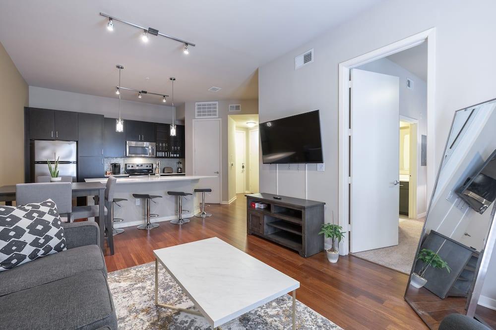 奢華公寓, 1 張特大雙人床和 1 張沙發床 - 客廳