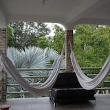 Panorama-Zimmer, 2Doppelbetten, Blick auf die Lagune - Balkon