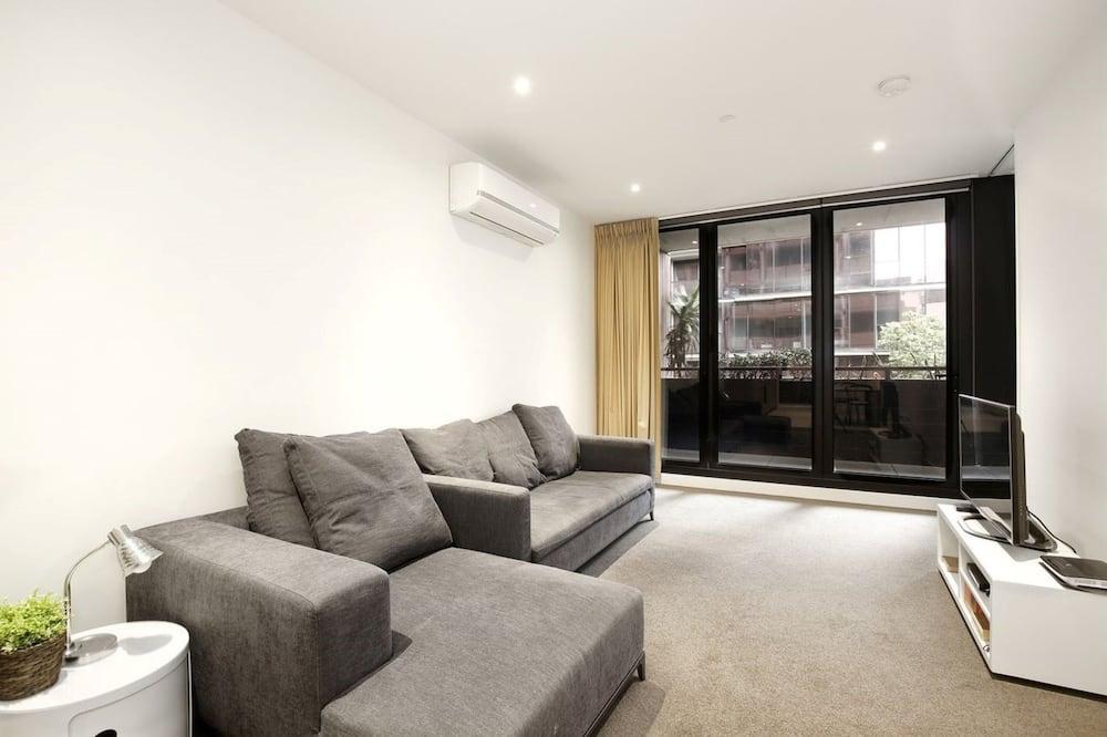 Departamento urbano, 3 habitaciones, 2 baños, vista a la ciudad - Sala de estar