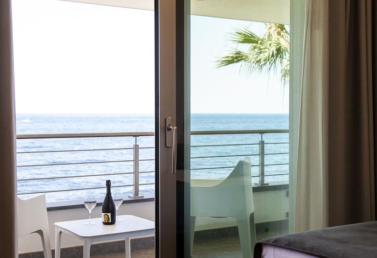 聖安東尼奧渡假村, Riposto, 豪華雙人房, 海景, 陽台景觀