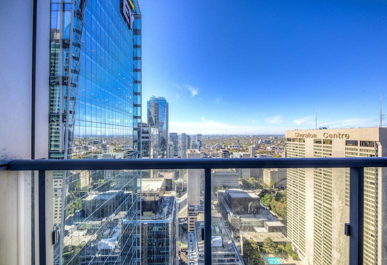 Executive Style 1BR Financial District, Toronto, Appartement, 1 slaapkamer, keuken, Balkon
