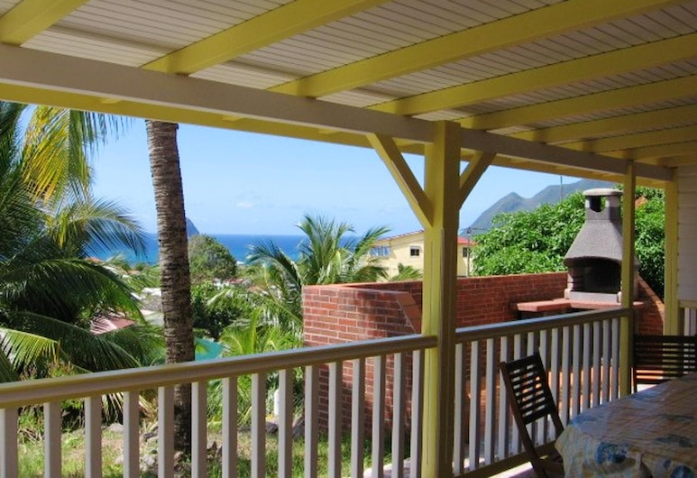 House With one Bedroom in Le Diamant, With Wonderful sea View, Enclosed Garden and Wifi, Le Diamant, Terrass