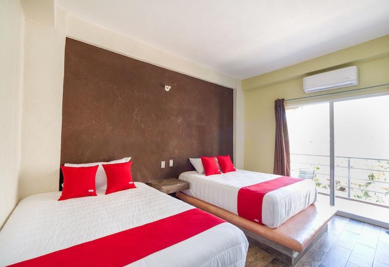 OYO Hotel Posada Lys, Zihuatanejo, Habitación estándar, 2 camas de matrimonio, Habitación
