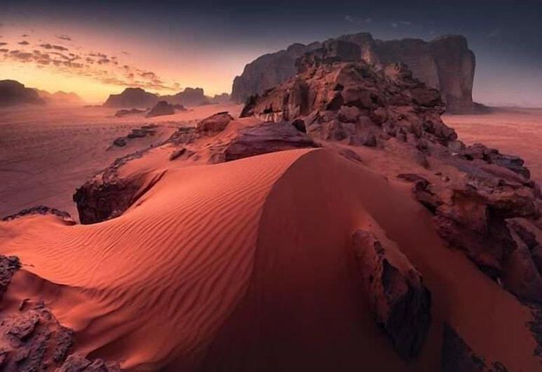 Bedouin habits tours camp, Ουάντι Ραμ, Εναέρια θέα