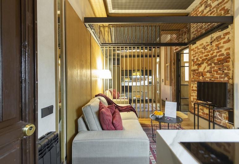 Apto. Madrid Centro Bilbao-Fuencarral MON33, Madrid, Apartment, 1 Schlafzimmer, Wohnzimmer