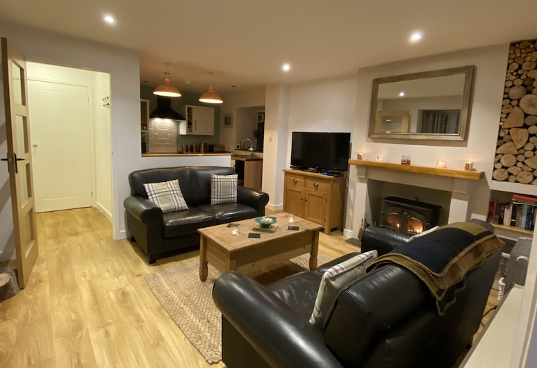 The Maltings 2 Bedroom Apartment , Tenby, Familienapartment, Wohnbereich