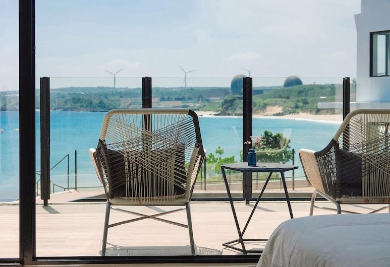 Sunshine Liv., Heng-chun, Chambre Double Deluxe, 1 grand lit, terrasse, vue océan, Terrasse/Patio
