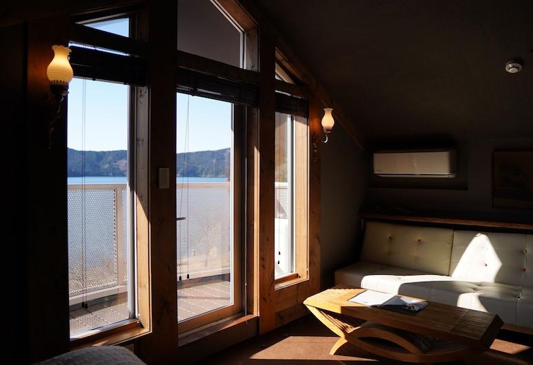 Hakone villa bizan, Hakone, Pokój z 2 pojedynczymi łóżkami typu Premier, widok na jezioro, Pokój