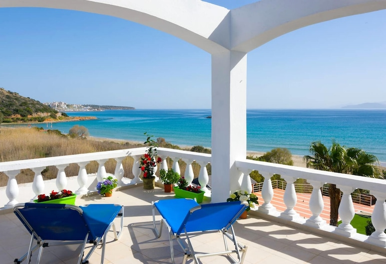 Apartment With 2 Bedrooms in Agios Nikolaos, With Wonderful sea View, Furnished Terrace and Wifi, Агіос-Ніколаос, Балкон
