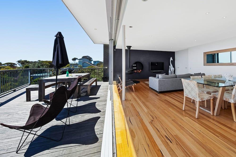 Dom typu Comfort, 3 spálne, výhľad na zátoku, pri pláži - Balkón