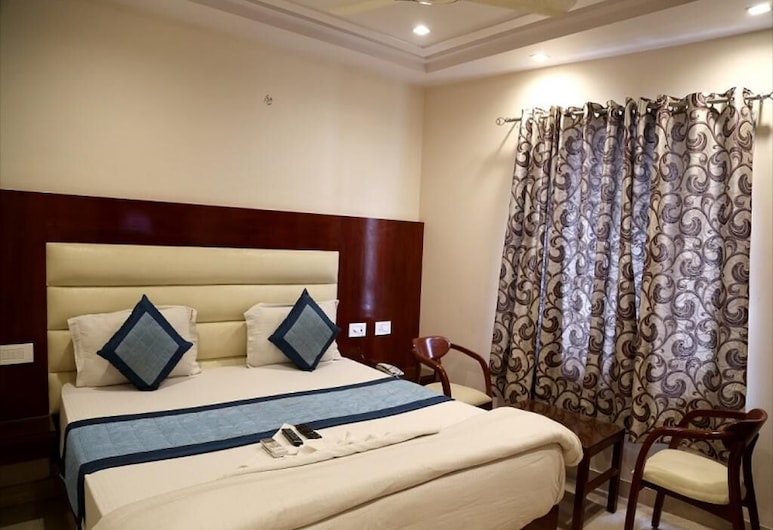 HOTEL SAPPHIRE, New Delhi, Deluxe dvokrevetna soba, 1 bračni krevet, Soba za goste