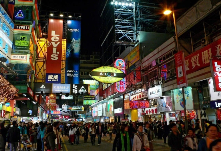 The Nap Mong Kok, Kowloon, Enkelrum, Utsikt mot gatan