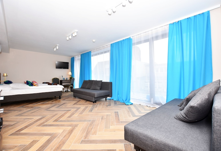 DUKES Apartments - Old Town, Wroclaw, Panoramic Studio, Living Area