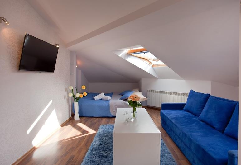 Apartament City Center Studio DeLuxe, Krynica-Zdrój, Deluxe-Apartment, Wohnbereich