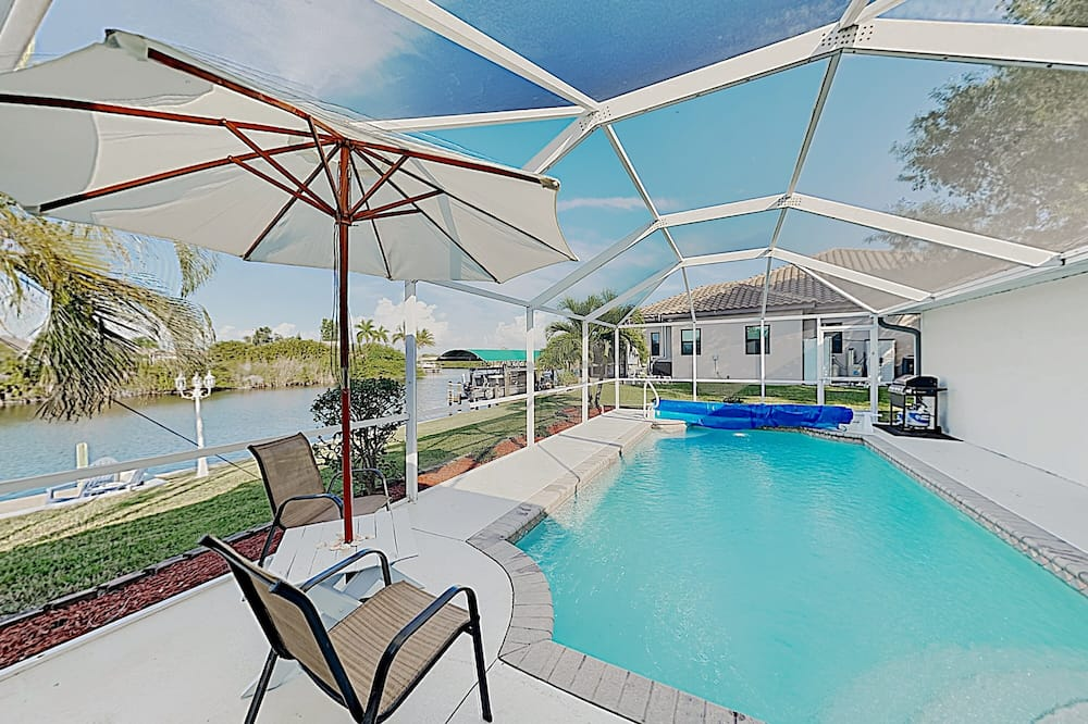 New Listing! On Canal: Gulf-access Dock, Pool 3 Bedroom Home, Cape Coral