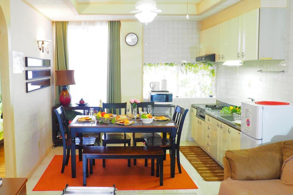 Ferienhaus, 3Schlafzimmer - Essbereich im Zimmer
