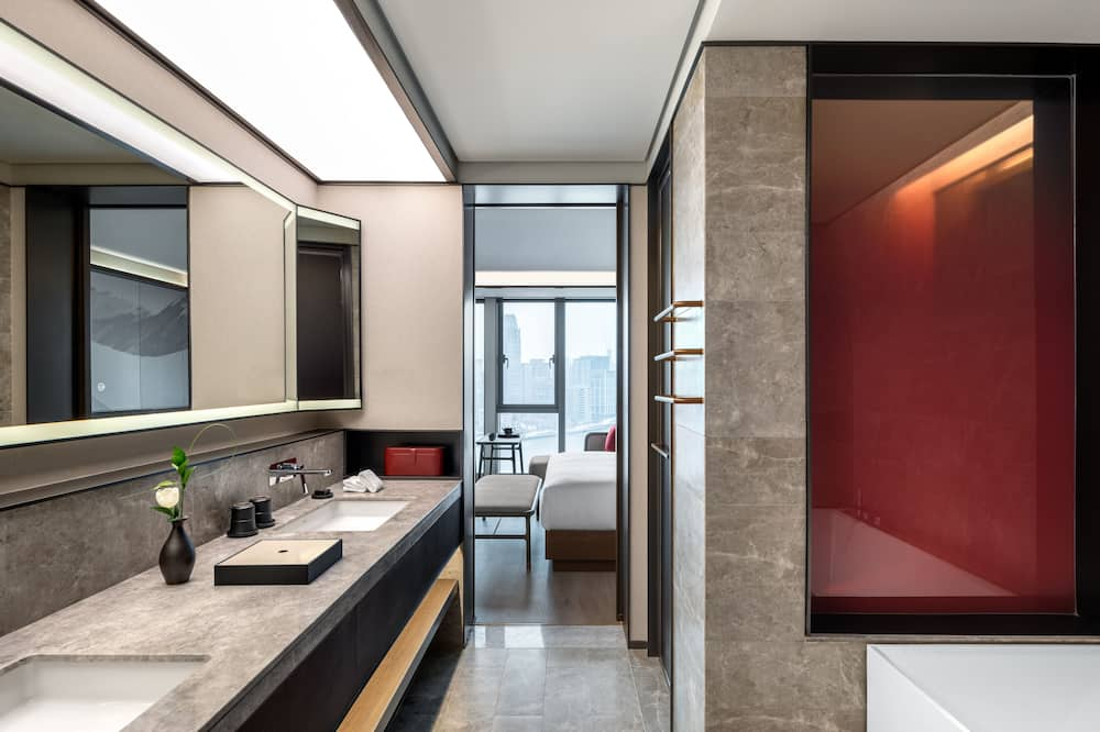 Suite, Nichtraucher, Flussblick - Badezimmer