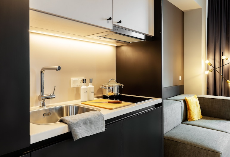 Joyn Cologne, Kolín, Smart Apartment, Kuchynka v izbe