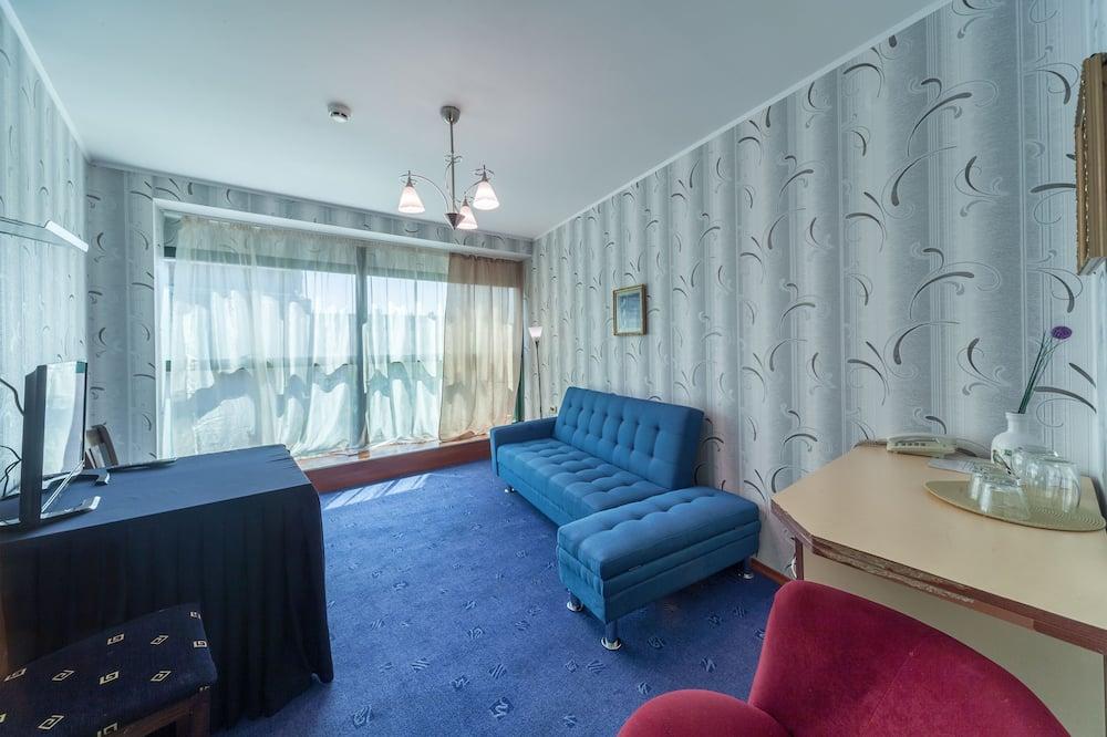 Deluxe appartement, 1 slaapkamer, Uitzicht op de stad - Woonruimte