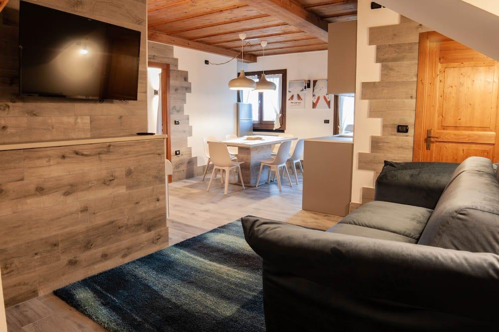 Luxury Apartment, 2 Bedrooms (Topazio Blu) - Living Area