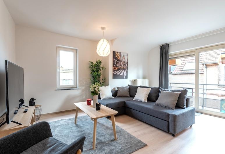 Duplex 3-bedrooms Laeken Brussels Expo, BRUSEL, Rodinný apartmán, Obývacie priestory