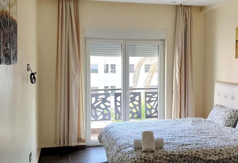 Apartment With 3 Bedrooms in El Jadida, With Wonderful City View, Furnished Balcony and Wifi - 4 km From the Beach, Эль-Джадида, Апартаменты, вид на город, Номер