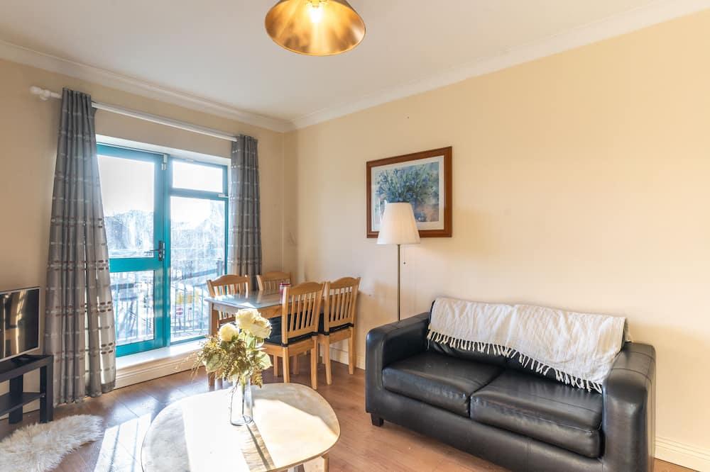 apartman, 1 queen (nagyméretű) franciaágy és egy kihúzható kanapé - Nappali