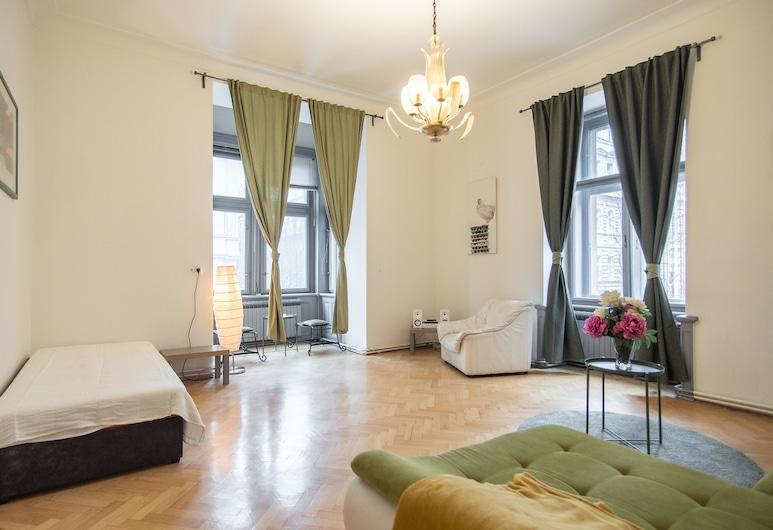 Huge apartment just around the corner of Wenceslas Square, Prague, Apartment, Multiple Beds (Manesova 10 #4), Room