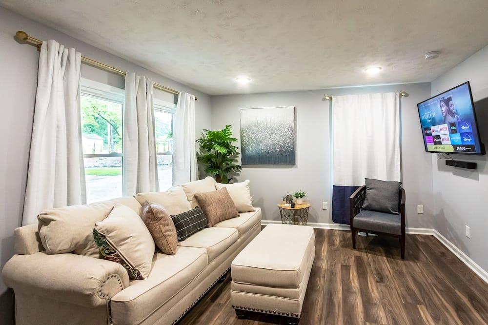 Departamento romántico, 1 cama King size con sofá cama - Sala de estar