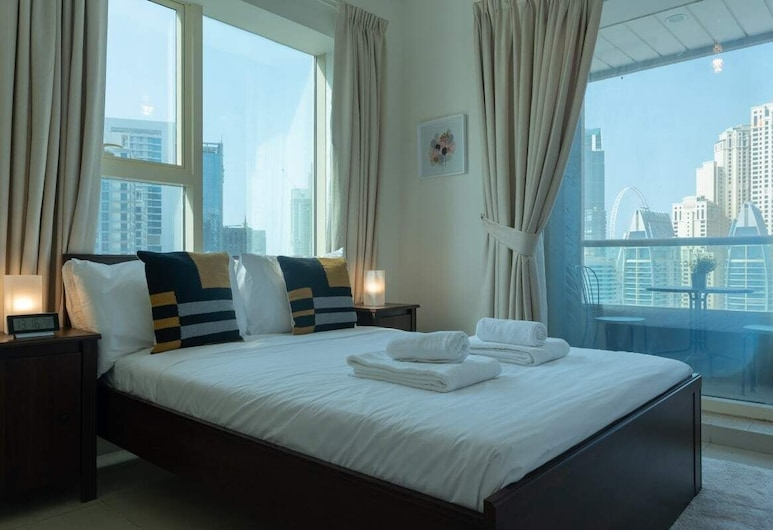 Amazing View of Dubai Marina w/ Cosy Vibes!, Dubajus, Kambarys