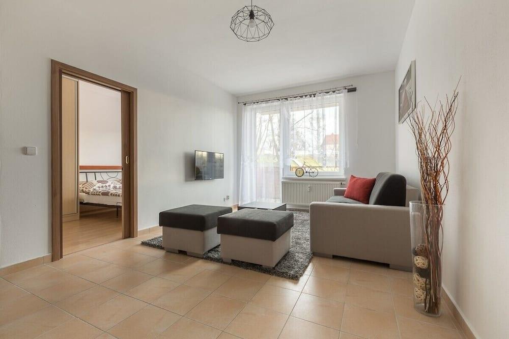 Appartement Standard, 1 très grand lit et 1 canapé-lit - Coin séjour