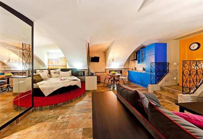 أبارتمنت سيتي, سانت بترسبرج, شقة مريحة - في الطابق الأرضي, منطقة المعيشة