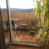 Comfort studio, Balkon, uitzicht op tuin - Balkon
