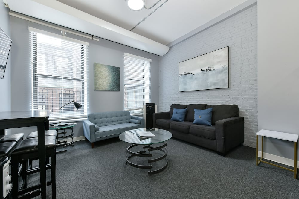 Deluxe Διαμέρισμα, 1 Διπλό Κρεβάτι με Καναπέ-Κρεβάτι - Περιοχή καθιστικού