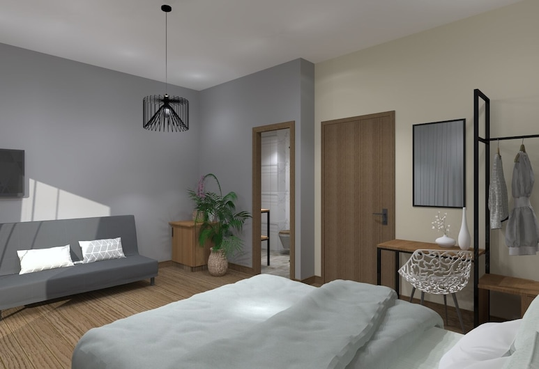 Aethon Airport Project-FREE SHUTTLE, Markopoulo Mesogaias, Urban Chic Room, Phòng