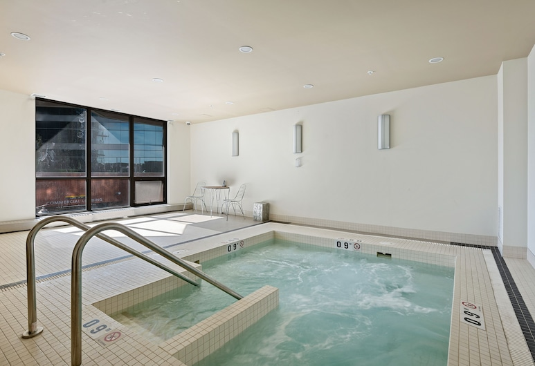 Simply Comfort. Modern Downtown Condos, Calgary, Indoor Spa Tub
