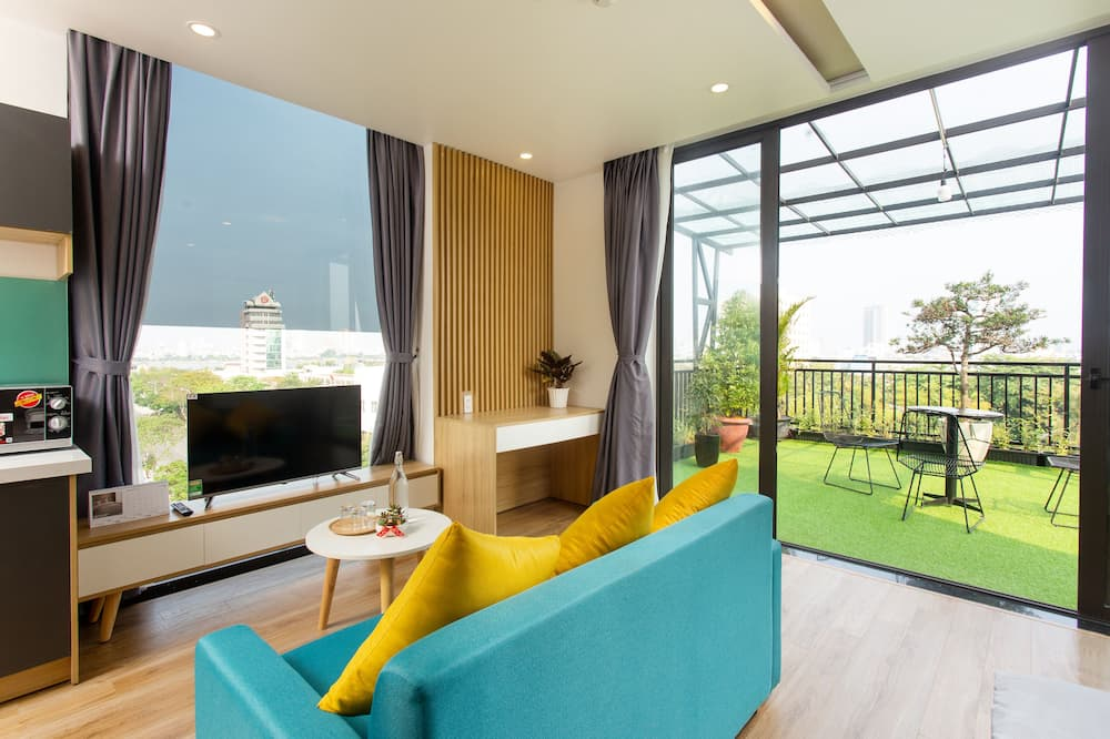 Departamento Premium, terraza - Sala de estar