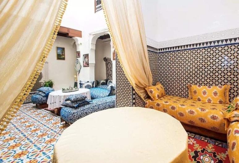 Riad Family Samnoun, Fés, Lyxigt dubbelrum eller tvåbäddsrum, Gästrum