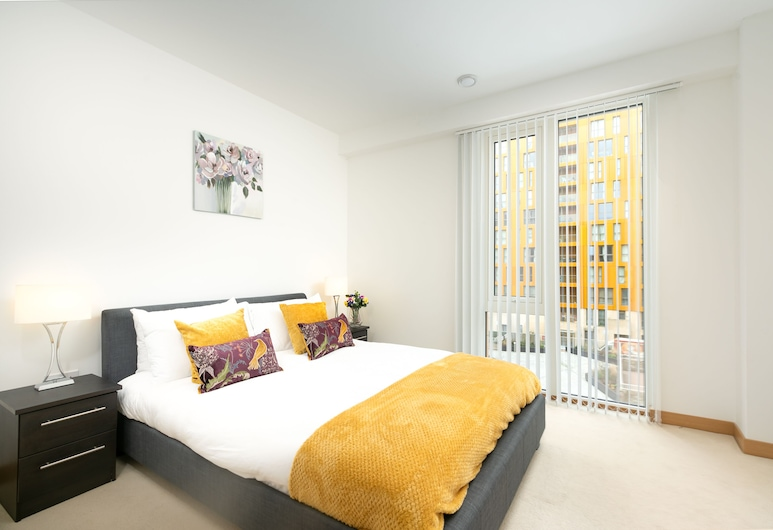 Luxury Apartment London Sleeps 4, Londres, Appartement Luxe, Chambre