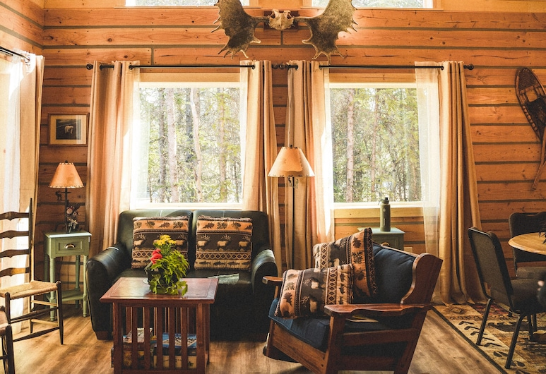 Denali Wild Stay, Healy , Family House, 2 Bedrooms, Mountain View, Ruang Tamu