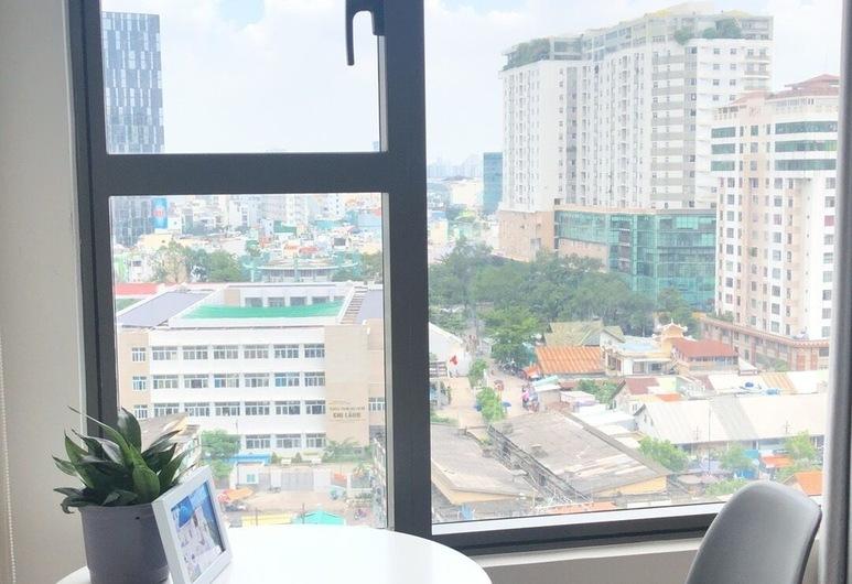 Helen Home, Ho Chi Minh City, Apartament luksusowy typu Studio, Łóżko queen, dla palących, widok na miasto, Pokój