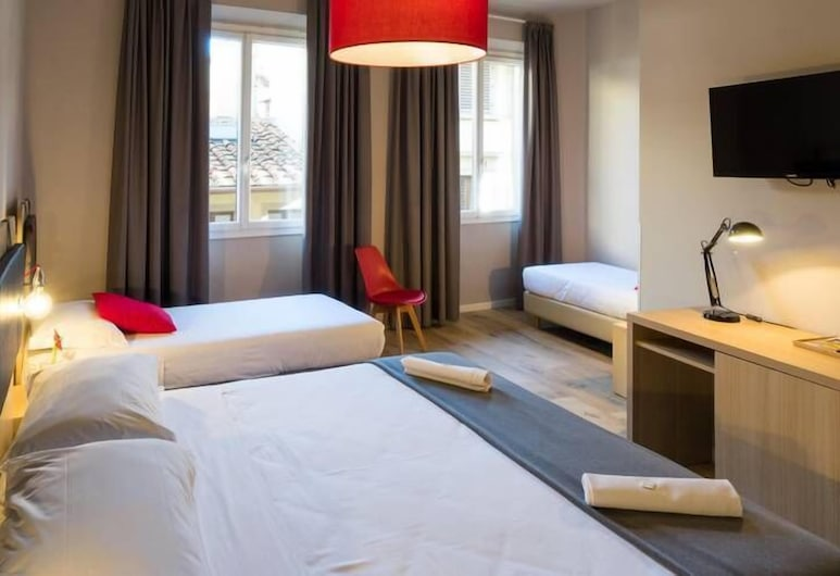 Hotel Centro, Florencia, Trojlôžková izba, Hosťovská izba