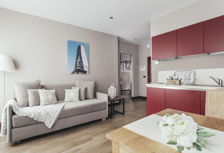 Residence Petronio, Bologna, Appartement, 1 slaapkamer, Woonruimte