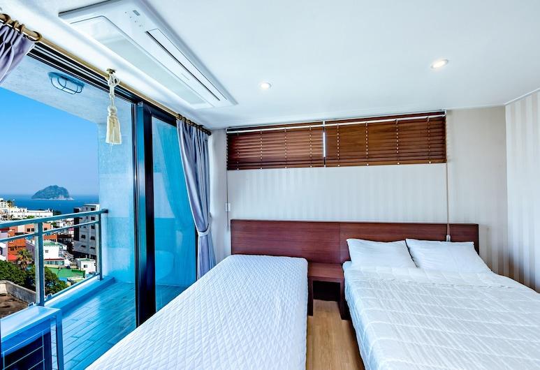 Chilsimni Hotel, Seogwipo, Deluxe Twin Room, Ocean View, Bilik Tamu