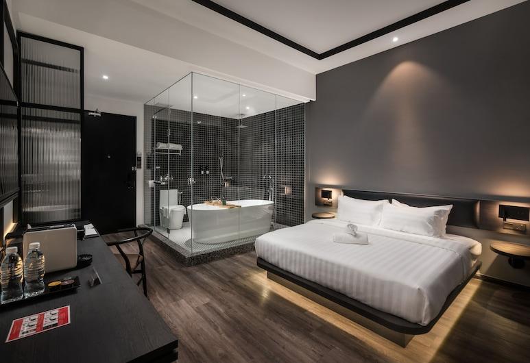 Modern Hotel Georgetown, George Town, Deluxe Double Room, Bathtub, Bilik Tamu