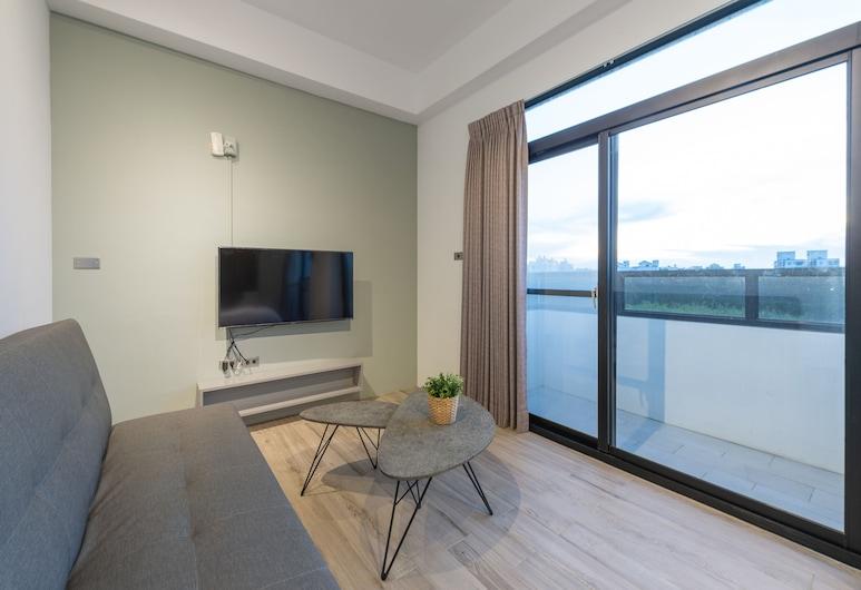 型藍美旅民宿一館, 馬公市, 豪華4人房 (藍203), 客房